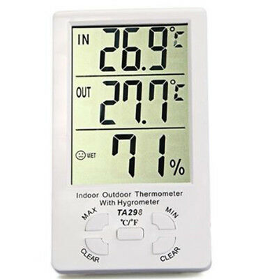 LCD Digital In/Outdoor Hygrometer Thermometer Temperature Humidity Meter