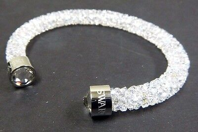 White Crystaldust Small Cuff Bracelet Crystals 2016 Swarovski Jewelry #5255899