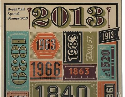 GB 2013 Royal Mail Hardback Yearbook stamps cat £180 still in original wrapper