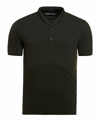 New Mens Superdry Factory Second City Pique Polo Shirt Surplus Goods Olive Green