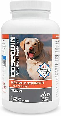 Cosequin DS Plus MSM For Dogs (132 Chewable Tablets) NEW