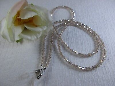 GLISTENING CHAMPAGNE Swarovski Bi-Cone Crystal Beaded Eyeglass Chain~Holder~Cord