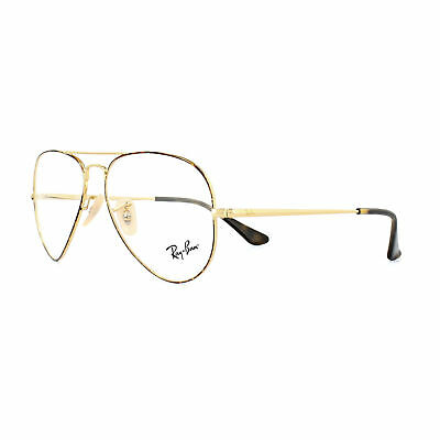 90f6ae9633 Ray-Ban Glasses Frames 6489 Aviator 2945 Gold Top on Havana 55mm Mens Womens