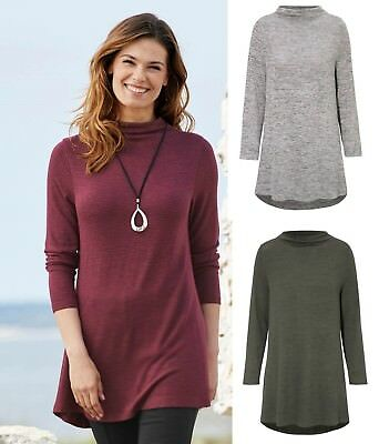 Plus size womans ladies long top stretch jersey A line tunic 14 to 36 UK summer