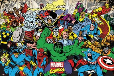 MARVEL CHARACTERS POSTER, SIZE 24x36