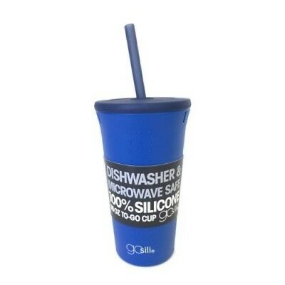 NEW GoSili Silicone Portable Drinkware Tumbler 16oz - Blue