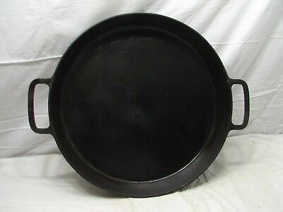 Griswold 20 Cast Iron Skillet 728 Large Block Logo Heat Ring Fry Pan Two Handle