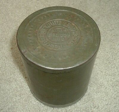 Rare Detroit White Lead Works Empty Paint / Varnish Metal Can