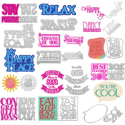 Slogan Metal DIY Cutting Dies Stencil Scrapbook Album Paper Card Embossing Craft