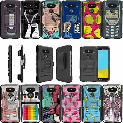 For LG G5 | G5 H850 Dual Layer Bumper Kickstand & Holster Combo Case - Vintage