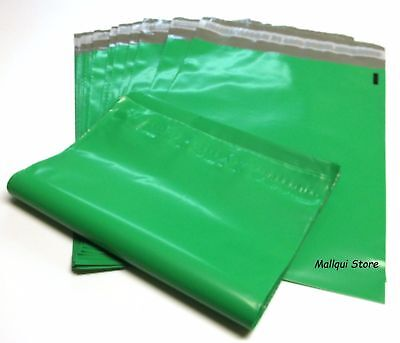 50 GREEN COLOR POLY MAILER BAGS 7.5 x 10.5 BOUTIQUE SHIPPING ENVELOPE MAILING
