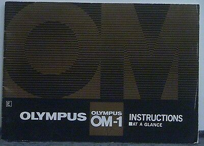 Olympus OM1 Instructions at a Glance Manual.