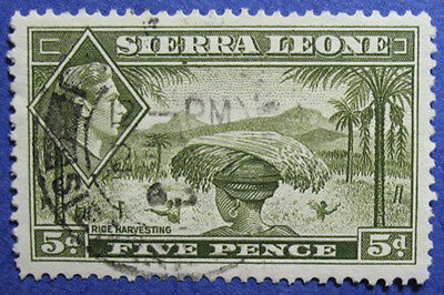 1938 SIERRA LEONE 5d SCOTT# 179 SG# 194 USED CS06220