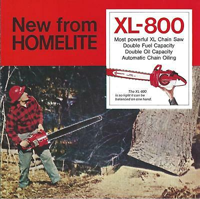 Equipment Brochure -  Homelite - XL-800 - Chain Saw - c1966 Chainsaw (E4357)