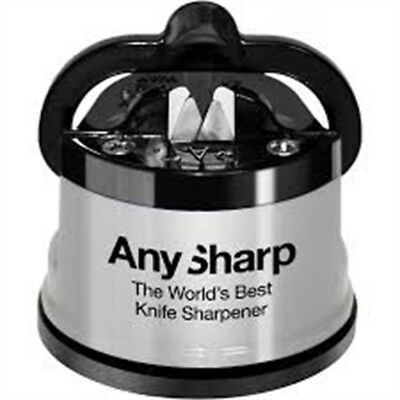 Anysharp Knife Sharpener Silver - Worlds Best Kitchen