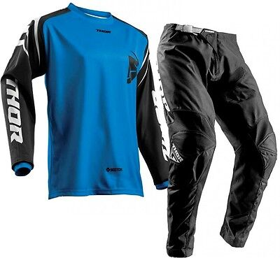 New 2018 36 XL Thor Sector ZONES Blue Jersey Pant Kit Motocross Enduro