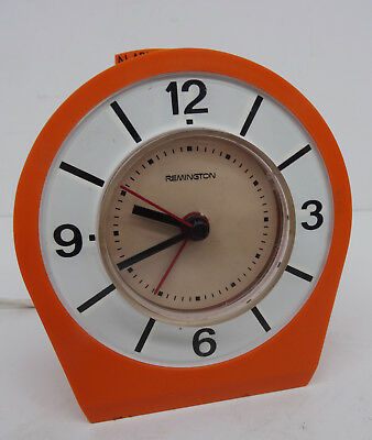 pop art 70s alarm clock - Oranger elektromechanischer Remington Wecker Uhr 70er