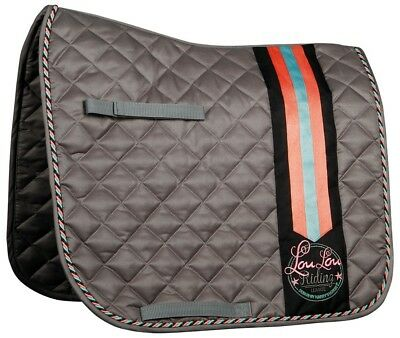Harry's Horse LouLou Rochford Full Size Dressage Saddle Pad - charcoal Harry's H