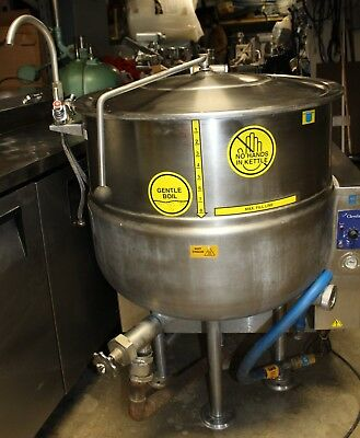 Used Cleveland KGL40 40-gallon Gas Jacketed Bagel Cooking Steam Kettle year 2005