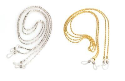 CG0738/9...CHAIN FOR SPECTACLES - GOLD or SILVER - FREE UK P&P