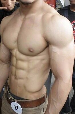 Shirtless Male Very Muscular Body Builder Hunk Abs Chest Biceps PHOTO 4X6 C907