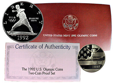 1992 United States Mint Olympic Two-Coin Proof Set (C.19.2)