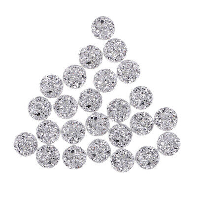 12mm Sparkling Resin Round  Rhinestone Craft for Wedding dress/Card Making