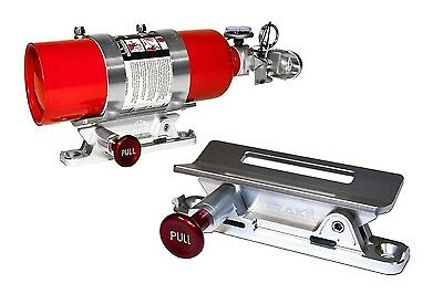 Fire Extinguisher Mount SILVER Bronco Off Road  Car Safety  SCOTT DRAKE