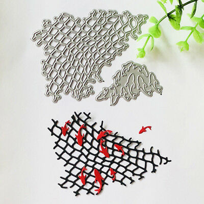 2pcs Fishing Net Metal Cutting Dies For DIY Scrapbooking Album Paper Card LE LL