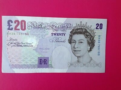 Bank Of England (£20) Twenty Pound Note (UNC) Uncirculated M Lowther BH38-768188