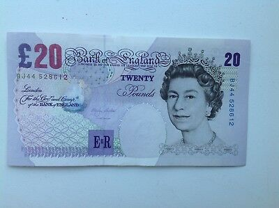 Bank Of England (£20) Twenty Pound Note (UNC) Uncirculated M Lowther BJ44-528612