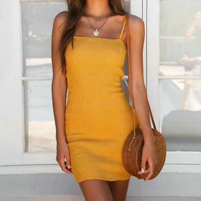 Women's Sling Sleeveless Holiday Beach Party Cocktail Short Mini Dress Sundress