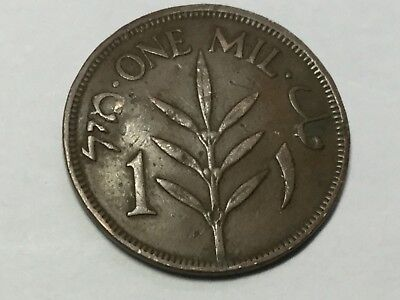 PALESTINE 1927 1 mil coin circulated, small dent