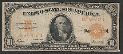 10 Dollars Gold Certificate Series Of 1922 Michael Illegas