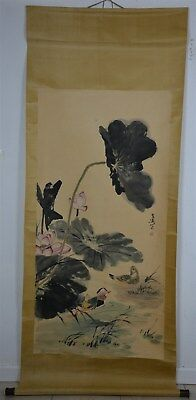 Spectacular Large Chinese Painting Scroll Signed Master Wang Xuetao H0839