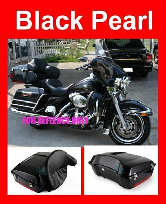 Black Pearl Chopped Tour Pak Luggage for Harley Street Electra Road Glide 97-13