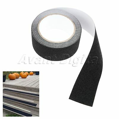 Outdoor Floor Non Slip Stair Treads Black Safety Anti Skid Tape High Traction 5M