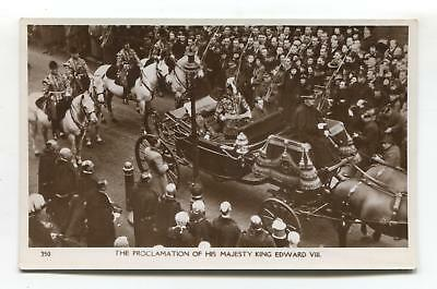 The Proclaimation of King Edward VIII - old real photo postcard