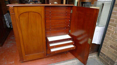 A Victorian Mahogany Butterfly Collectors Cabinet.insect. Moth. Taxidermy