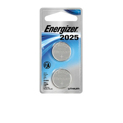 Energizer Lithium Coin Watch/Electronic Battery 2025, 2-Count, CR2025, DL2025
