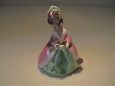 "Vintage Josef Originals ""little Gift"" Girl In Mauve & Green With Present"