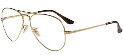 685a7604c6566 RAY BAN 6489 58 2500 Gold Lunette Vue Eyewear Gafas Or - EUR 98