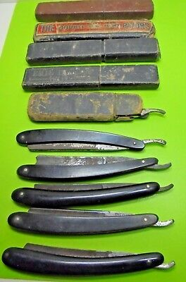 10 Antique Victorian Old Vintage Straight Razor Early Barber Shaving Cut Throat