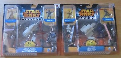 2 Sets Arena Assault und Jedi Duel 12 Figuren Star Wars Command Hasbro*
