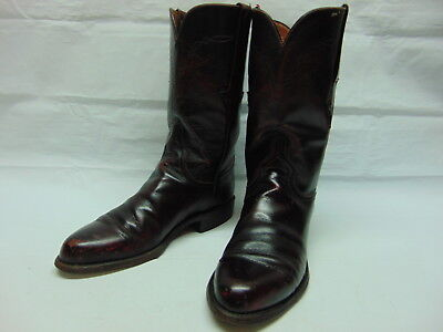 Lucchese since 1883 Womens 6 B Black Cherry Leather ROPERS Western Cowgirl  Boots