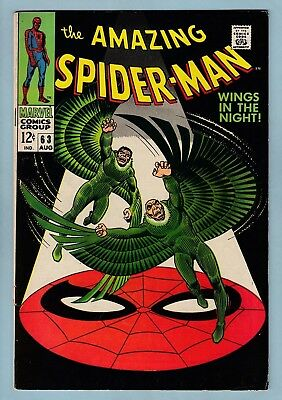 Amazing Spider-Man # 63 Vg+ (4.5) Looks Nicer- Vulture Appearance- Glossy- Cents