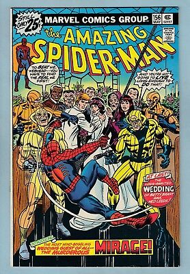 AMAZING SPIDER-MAN # 156 VFN- (7.5) 1st MIRAGE APPEARANCE - HIGHER GRADE - CENTS