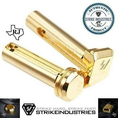 Strike Industries EXTENDED Enhanced Takedown Pins Gold Color Front&Rear