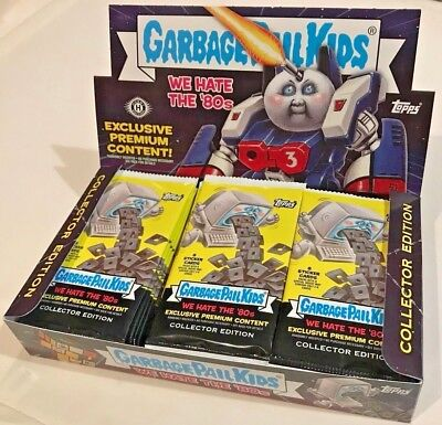 GPK Topps 2018 Garbage Pail Kids We Hate the 80's Hobby COLLECTOR EDITION BOX