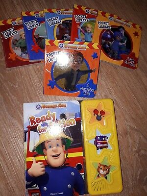 bundle 6 mini fireman sam pocket library board books and noisy sound book